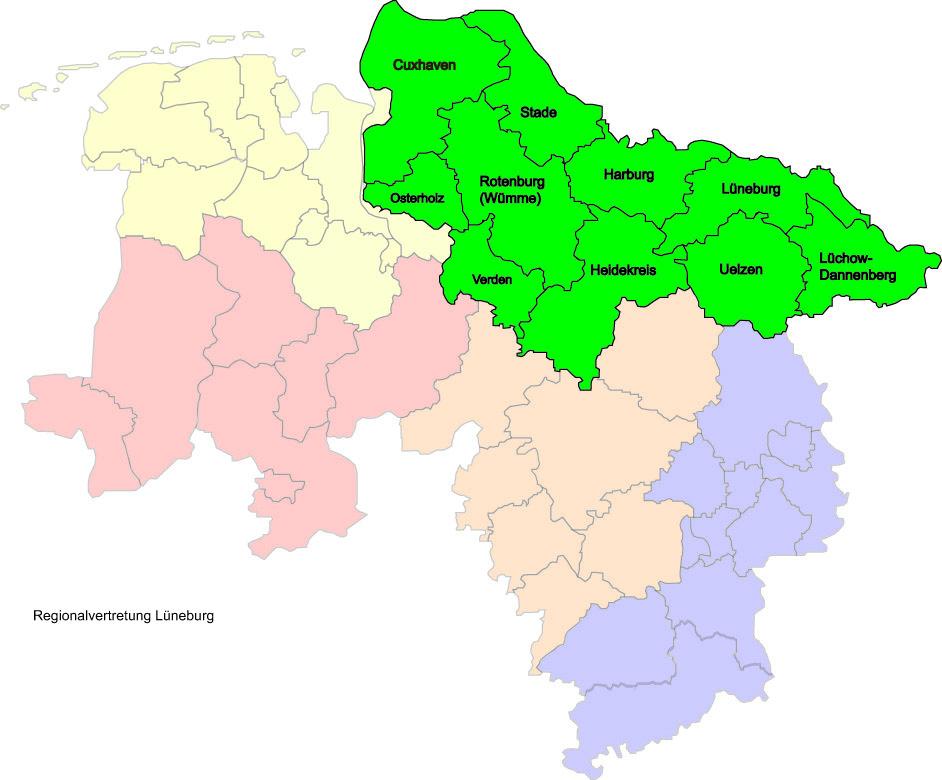 Regionalvertretung Luneburg Zentrale Beratungsstelle Zbs Niedersachsen